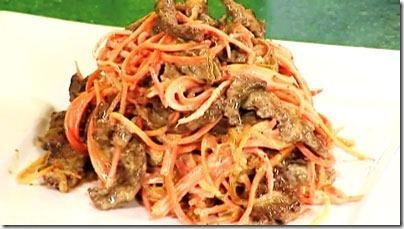 Салат из печени свиной с морковью и луком рецепт
