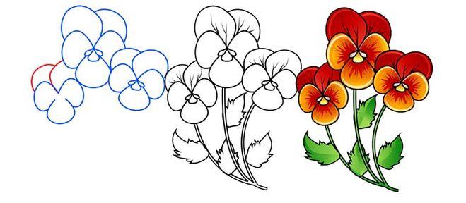 Много цветков в одном горшке