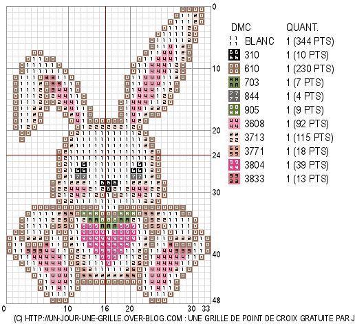 Вышивка крестом схема зайца 520