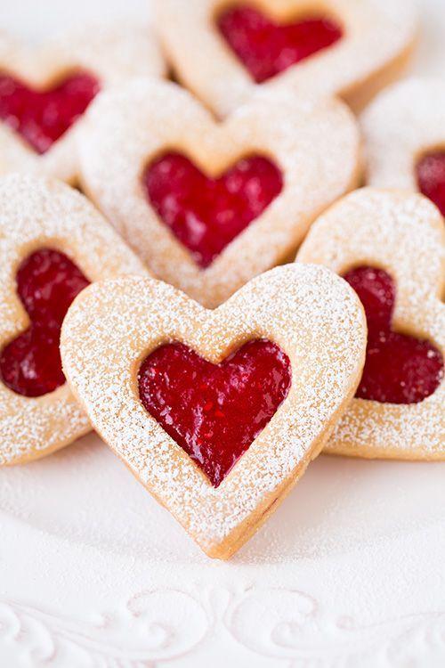 печенье-валентинка с джемом