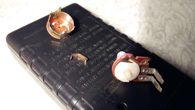потенциометр с выключателем разобрали