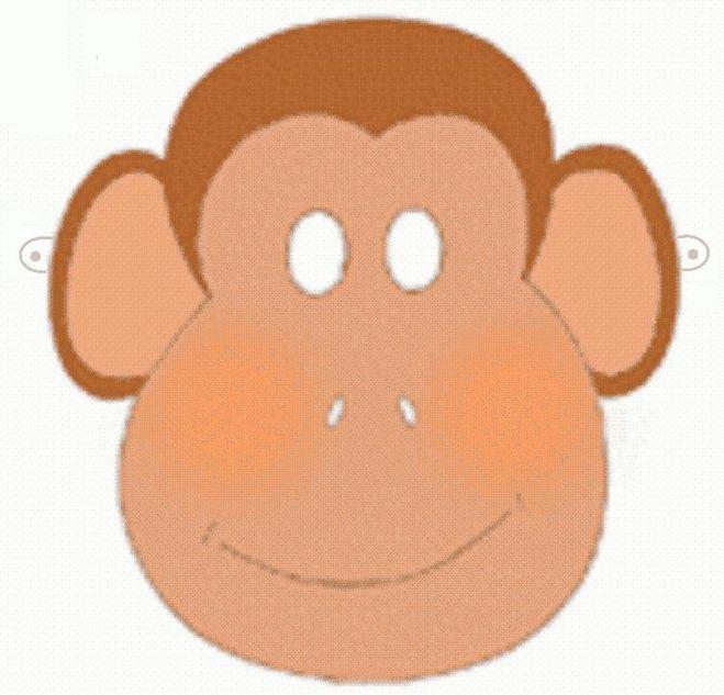 Как сделать из бумаги обезьяну маску