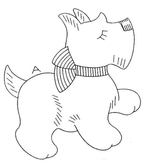 рисунок собака