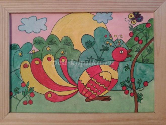 Как нарисовать жар-птицу поэтапно мастер-класс для детей 4-5 года
