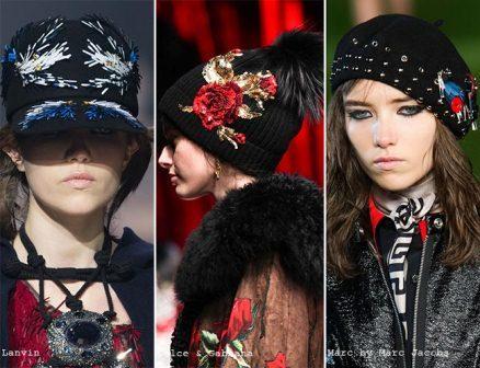 модные тенденции головные уборы стиль мода осень 2016 зима 2017