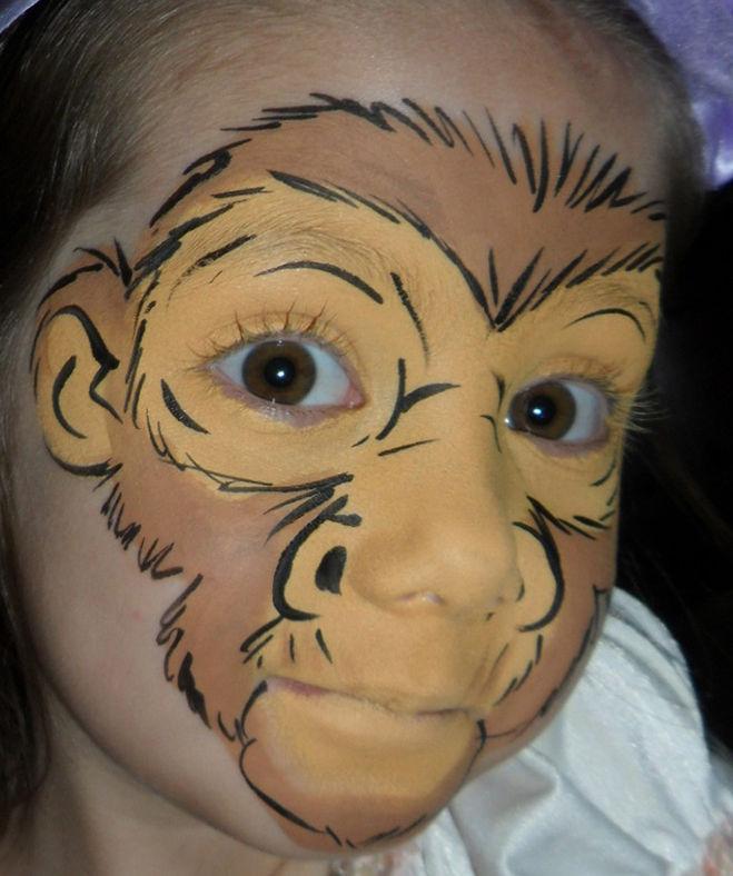 Аквагрим обезьяна мастер класс