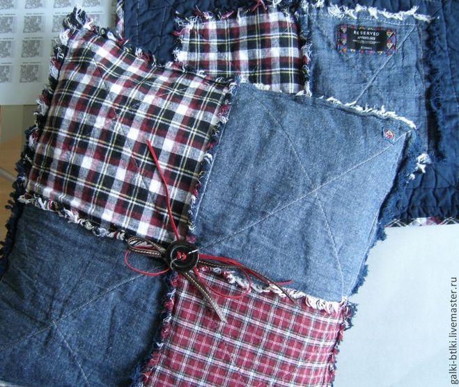 Подушки из джинсов своими руками мастер-класс