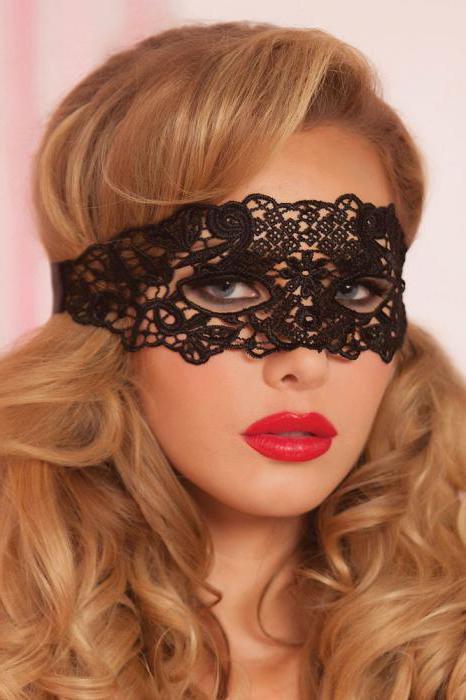 Кружевная маска на глаза своими руками