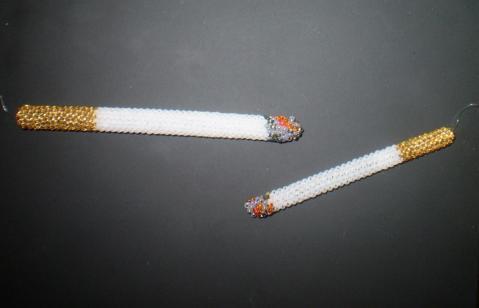 Схема сигарета из бисера