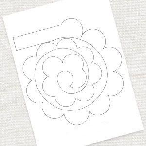 Как сшить розу букет роз из ткани фетра Выкройки розы