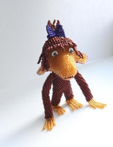 Объемная обезьяна из бисера мастер класс - Walton