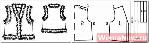 Как сшить меховую жилетку своими руками выкройки для начинающих