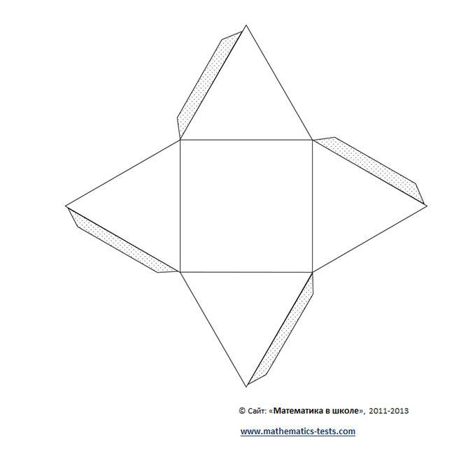Как сделать тетраэдра из картона