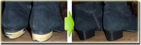 Чем покрасить пластмассовые каблуки?
