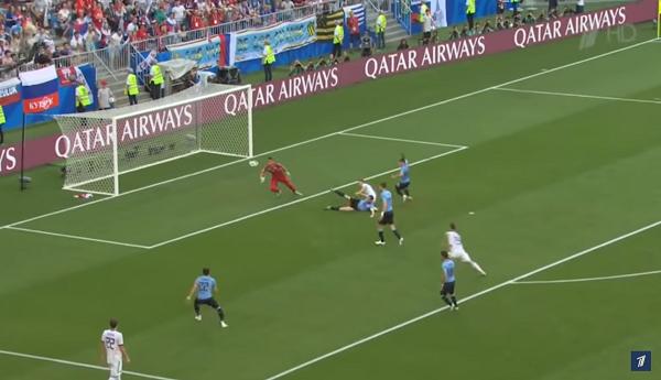 ЧМ-2018 по футболу игра между Россией и Уругваем