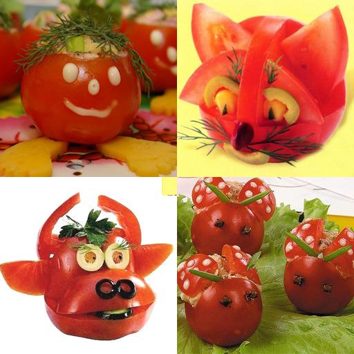 Поделка из овощей из помидор 100