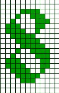 """вышивка крестиком цифра """"8"""" схема"""