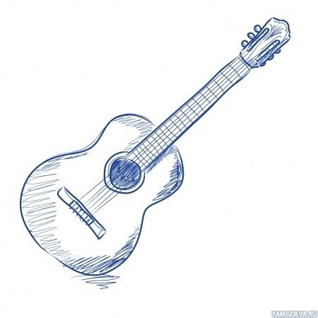 На гитару рисунок
