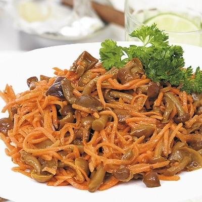 Салат с морковью по-корейски и грибами рецепт с в