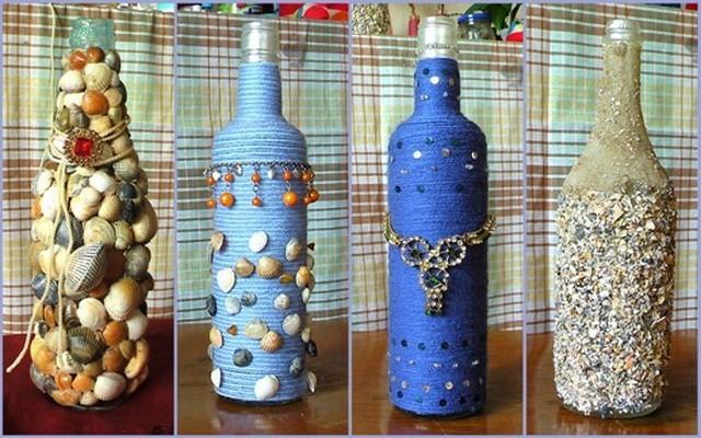 Своими руками вазы из бутылок