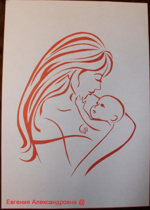 вытынанка матушка равным образом дитя, материнство