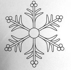снежинка из айсинга