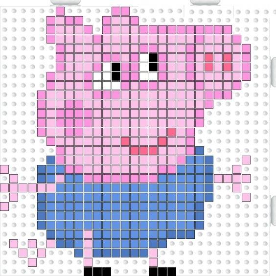 Схема свинки пеппы вышивка 267