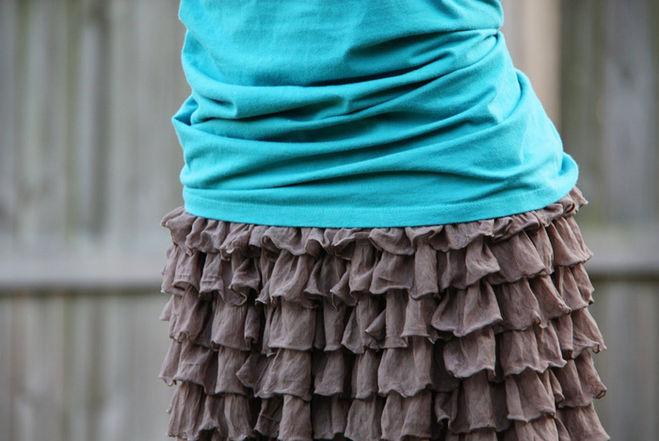 Короткая юбка с оборками своими руками