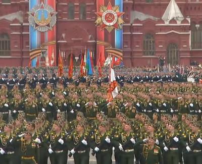 Марш День Победы на московском Параде Победы (9.05.2018)