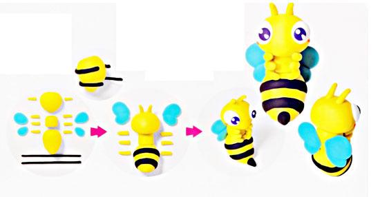 Как сделать из пластилина пчёлку