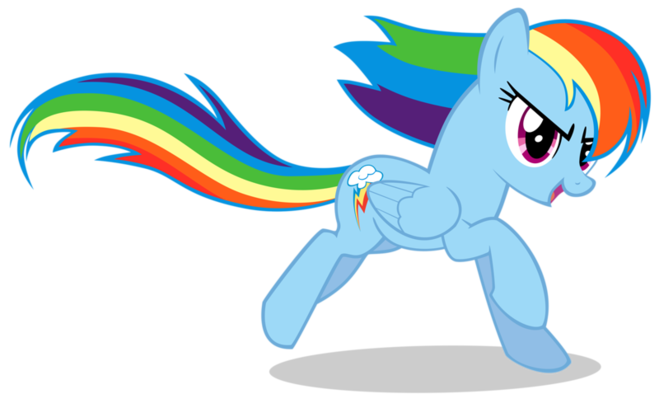 как нарисовать пони рейнбоу деш