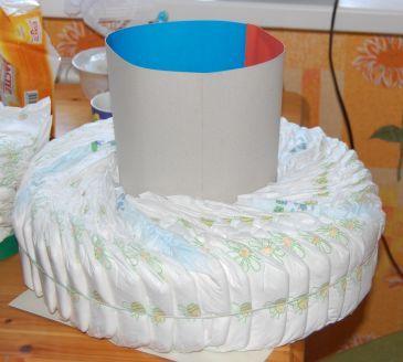 Торт из памперсов мастер класс своими руками
