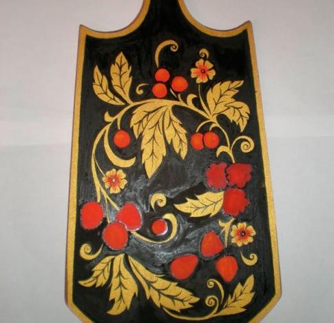 хохломская роспись по дереву мастер-класс поэтапно