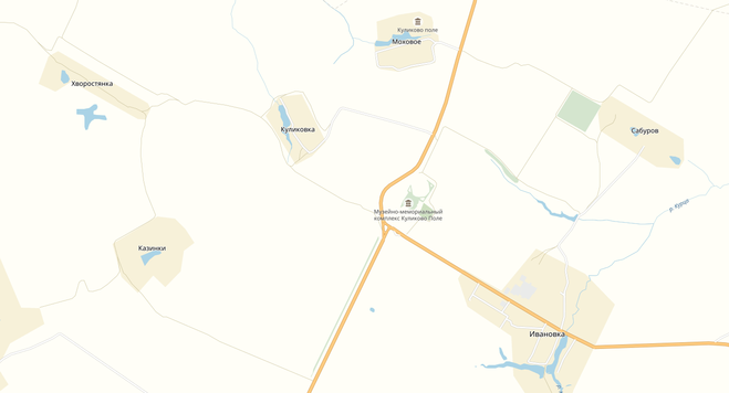 Куликово поле на карте России