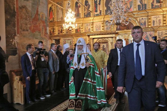 Патриарх Кирилл в Кирилло-Белозерском монастыре