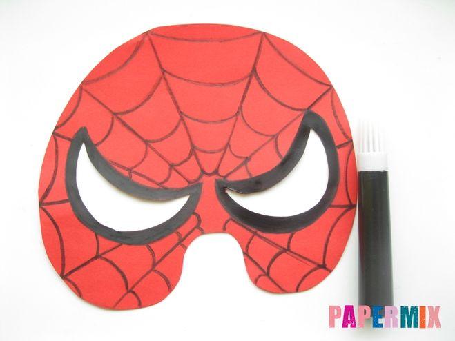Маска человека паука сделать своими руками 200