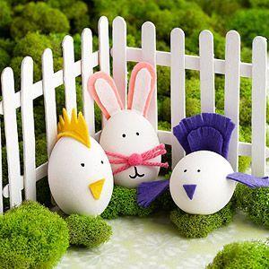 Как из яиц, скорлупы сделать животных, мультяшек с детьми ...