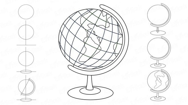 Глобус картинки для детей нарисованные