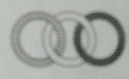На рисунке три кольца, образующие цепочку. На каком рисунке эта же цепочка?
