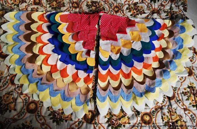 Сделать крылья птицы своими руками из ткани 497