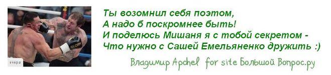 Кокляев Емельяненко стихи с юмором, как так вышло, комментарии про бой Коклява и Емельяненко
