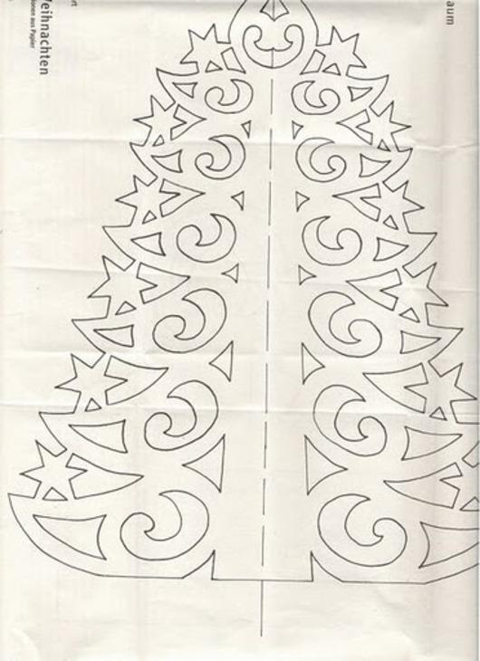 Ёлка из бумаги своими руками на окнах