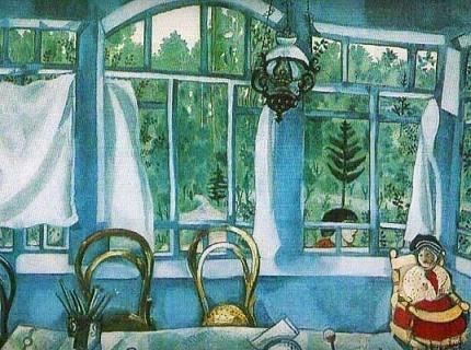 """Марк Шагал """"Окно в сад"""" сочинение описание"""