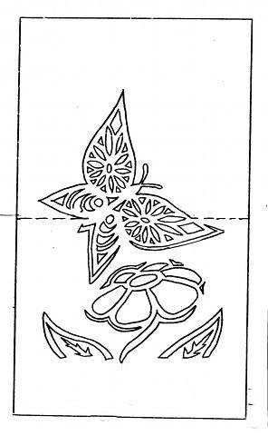 Шаблон для открытки с вырезанием