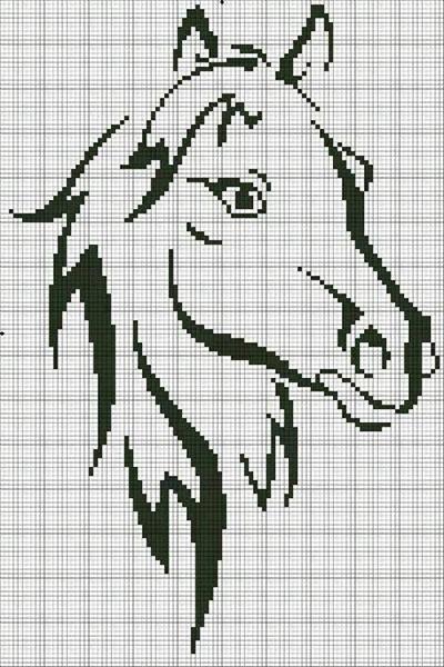 лошадь схема для вышивки крестиком