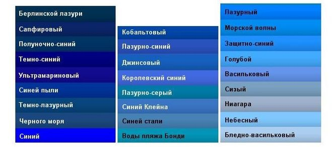 Цвет дымчато-синий