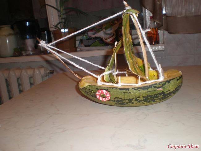 Как сделать поделку корабль или лодку