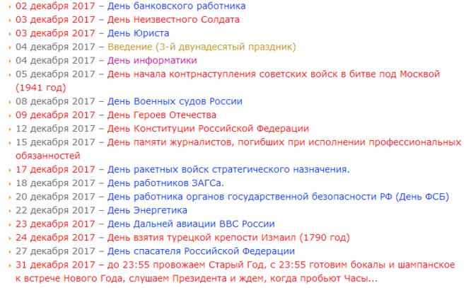 Календарь 2012 года и 2013