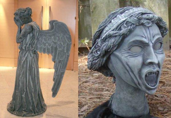 как сделать костюм плачущего ангела доктор кто