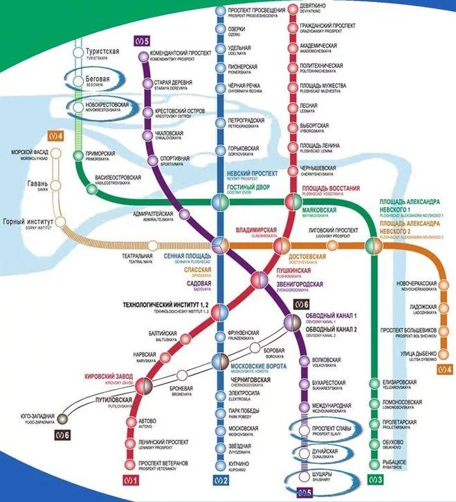 Станция метро горный институт санкт-петербург на схеме метро